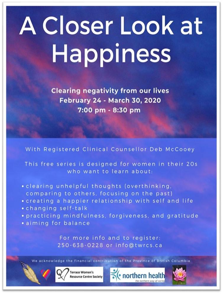 TWRCS - A Closer Look at happiness Poster