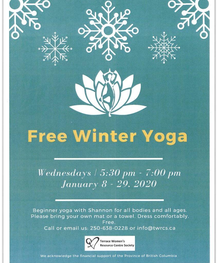 TWRCS - Free winter yoga Poster