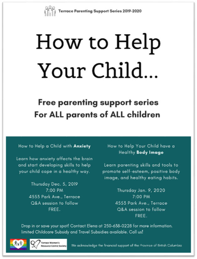 TWRCS - How to help your child Poster