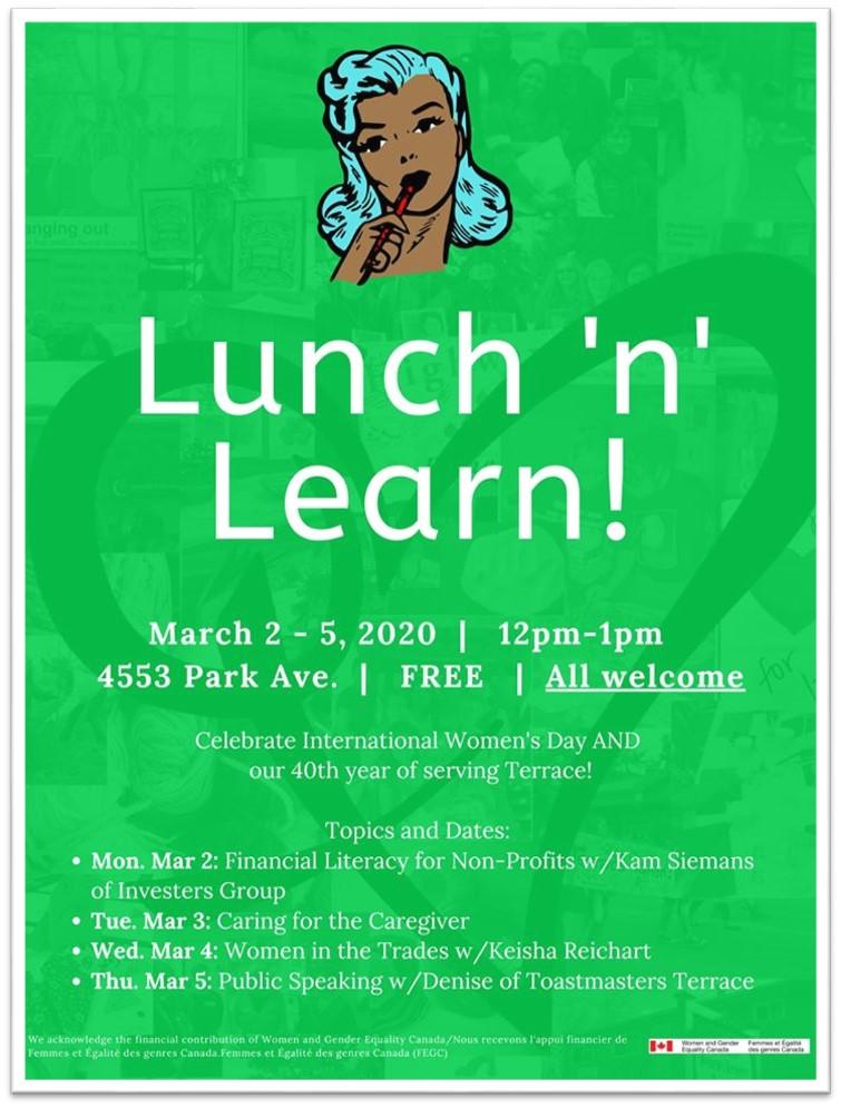 TWRCS Lunch n learn Poster