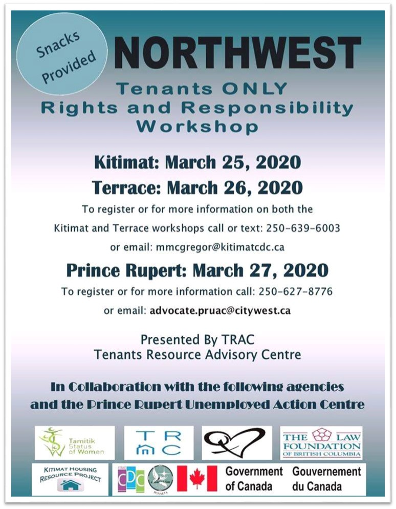 TWRCS Northwest Tenants Only rights and responsibility Poster
