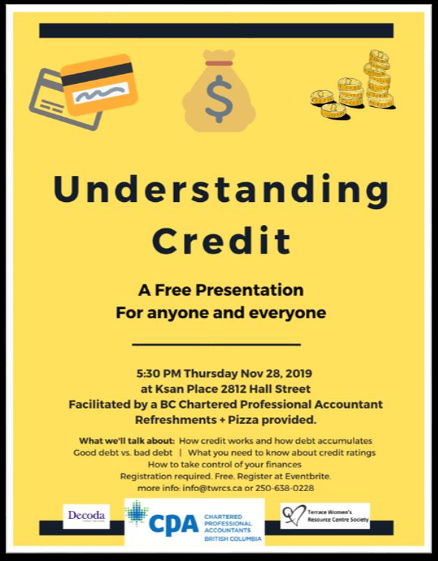 TWRCS - Understanding Credit Poster