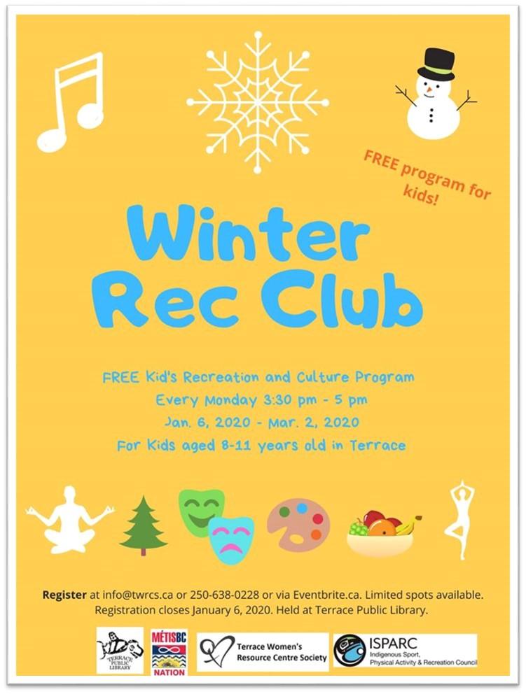 TWRCS - Winter Rec Club Poster