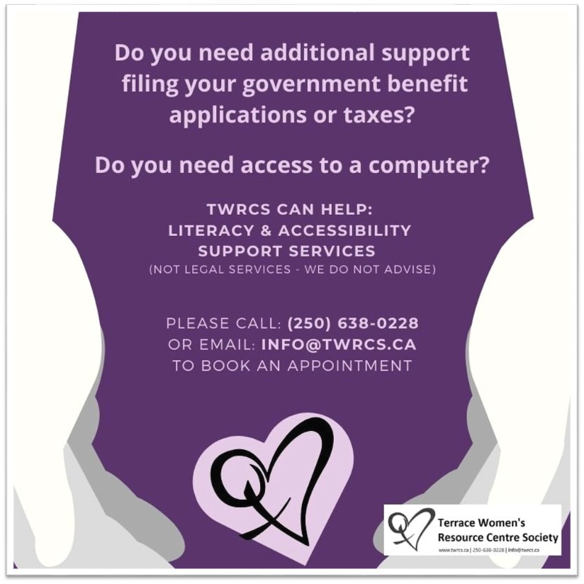 TWRCS government benefit applications or taxes Poster